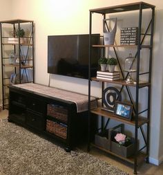 turning the vittsj shelving rustic and industrial ikea hackers ideas for the house. Black Bedroom Furniture Sets. Home Design Ideas