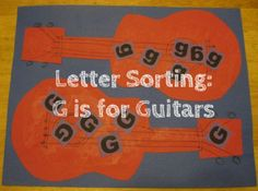 letter sorting g is for guitars alphabet activities for kids