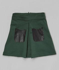 Look at this Green Pocket Skirt - Toddler
