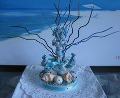 Anchor Wedding Cake Topper  Seashell Wedding by CeShoreTreasures, $50.00