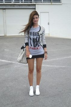 Love this except i would wear black chucks not white