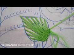 PASO A PASO PUNTADA PIRAMIDE EN HOJA - YouTube