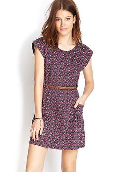 Kleid mit zierlichem Blumenprint