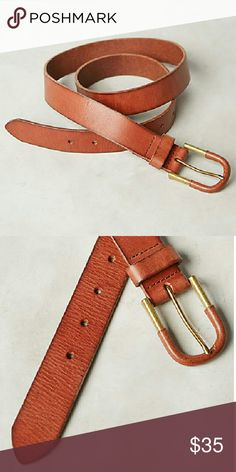 """NWT Anthropologie Ellero Belt S Small Super supple high quality genuine belt in a goes with everythig saddle color. So sad this is too big on me. In size small. Color closer to last photo.     Dimensions: 28""""L 1.25""""W Anthropologie Accessories Belts"""
