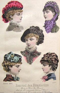 1884 Journal des Demoiselles années 1880 Fashion
