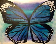 """Butterfly Blues"" Sunday March 8th, 5-8pm at Balboa Inn in Newport Beach. Come paint with us! Register on our website - just click the picture to follow the link!"