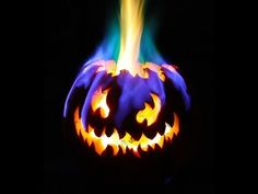 Rainbow Fire Halloween Jack-o-Lantern. Step up the fiery fun with hand sanitizer (methanol) on the OUTSIDE of the pumpkin. Add boric acid sprinkles and a tablespoon of ethanol and W O W. Don't forget to treat the fire with respect.