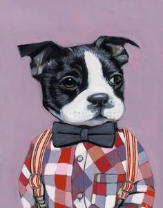 Dog print by Heather Mattoon #bostonterrier