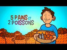 Petits bouts de Bible - 5 pains et 2 poissons - YouTube