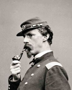 8 by 10 Civil War Photo Print Union Officer with Pipe | eBay  PIPE