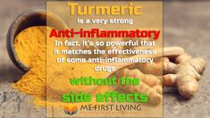 If you battle with chronic inflammation, turmeric could be exactly what you're looking for! See how this super-spice battles inflammation better than some inflammation drugs! Turmeric For Inflammation, Turmeric Curcumin, Side Effects, Drugs, Benefit, Spice, Battle, Amazing, Health