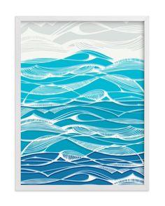 """Logo Discover """"Tempestuous Seas"""" - Limited Edition Art Print by Gill Eggleston. Tempestuous Seas Wall Art Prints by Gill Eggleston Wave Drawing, Waves, Wave Art, Art Textile, Sea Art, Linocut Prints, Art Plastique, Landscape Art, Japanese Art"""