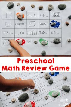 Here is a fun math review game that's great for any age and ability! This game can be personalized for any common core standard or skill. Best of all, you just need a piece of paper, a marker, and some rocks to set it up for your students at school or children at home. Inspired Learning, Review Games, Natural Parenting, Common Core Standards, Fun Math, Cloth Diapers, Preschool Activities, Marker, Montessori