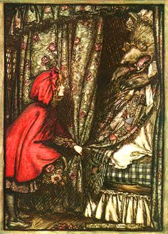 "Arthur Rackham:  Little Red Riding Hood"""