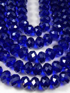 Glass Rondelle Beads