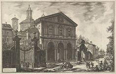 Giovanni Battista Piranesi   View of the Basilica of San Sebastiano fuori delle mura [St. Sebastian ouside the Walls] on the Appian Way, from Vedute di Roma (Roman Views)   The Met