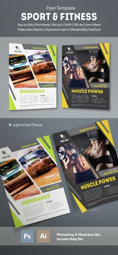Fitness Flyer Flyer template, Flyers and Illustrators - fitness flyer template