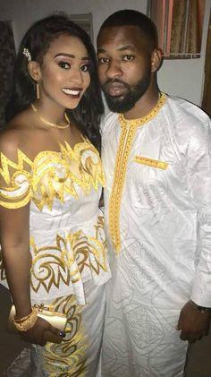 Monsieur et Madame Dia ont célébré leur union à Niary Tally avec la présenc… African Dresses Men, African Blouses, African Clothing For Men, Latest African Fashion Dresses, African Men Fashion, African Attire, African Wear, African Love, African Beauty