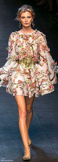 Dolce & Gabbana Spring 2014 RTW Repinned by www.fashion.net