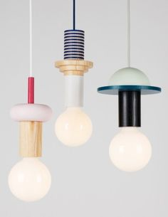 Junit is a new series of modular geometric pendant lights by the