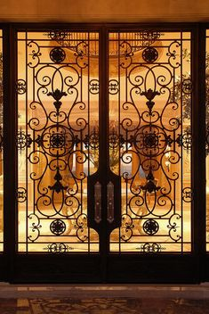 Exterior - have always wanted a home with case iron doors, and these will do just fine!