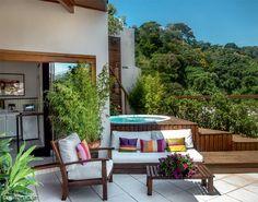 Um jardim na varanda do apartamento - Casa