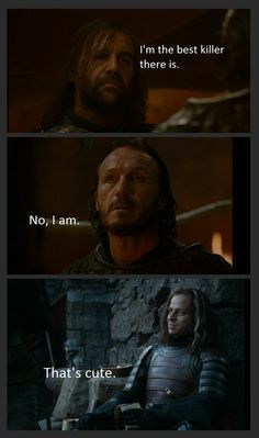 The Hound, Bronn, Jaqen...I love all 3 of these guys.