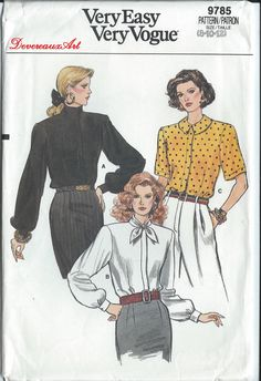 1986 Very Easy Very Vogue Pattern 9785 UNCUT by Devereauxart