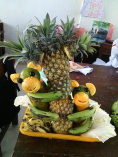 Fruit carving center pieces