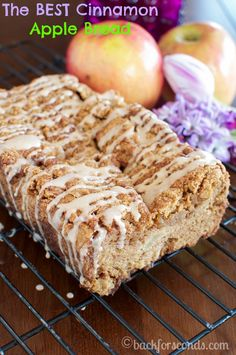 The BEST Cinnamon Apple Bread Ever!!