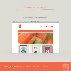 Crescemos para os lados. :)  Conheça o NOVO www.nacasadajoana.com.br  #poster #decor #design