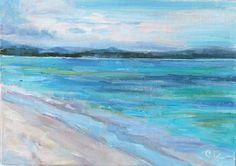 Ocean painting, original oil by Carol DeMumbrum on Etsy, $48.00