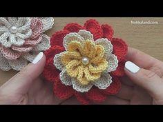 Flower For Decor Easy Crochet Tutorial – Yarn & Hooks