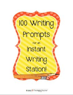 Summer Writing idea: Print these writing prompts on Avery labels. Put one on each page in a fun journal. Kids will have writing topics all summer long!  This will encourage daily writing in a fun and easy way.