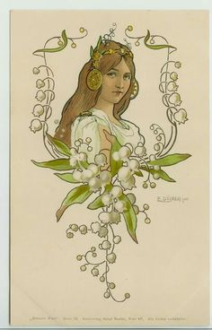 Art nouveau lilly of the valley reference