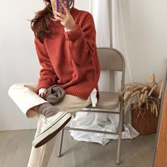 Fashion Tips Jewelry .Fashion Tips Jewelry Korean Fashion Trends, Asian Fashion, Look Fashion, Daily Fashion, Winter Fashion, Fashion Design, Simple Outfits, Casual Outfits, Cute Outfits