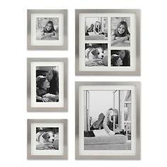 Stamp Metal Gallery Picture Frames, Set of 5 | Kirklands