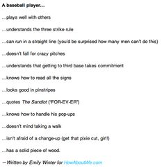 10 reasons to date a baseball player