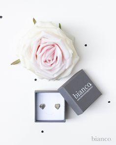 Orecchini cuore in argento 925 www.biancoloves.it