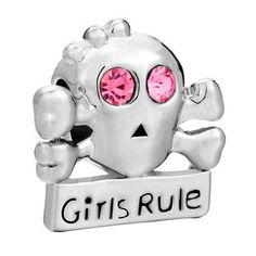 Girls Rule Austrian Crystal  Spacer Bead for  European Style