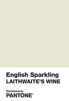Pantone has just created a new colour inspired by English sparkling wine
