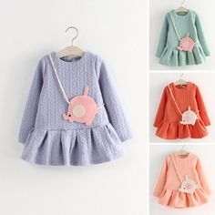 Super cute girl with elephant autumn winter dress wholesale price in large stock #super #cute #girl #dress #kidswear #kidswears #kidsclothing #nice #autumn #2014 #winter #kidswearschildrenclothing
