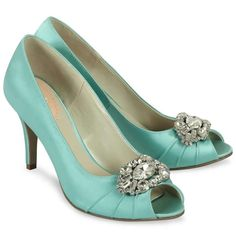Pink Paradox Tender Mint Green Satin Shoes