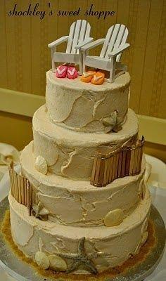 beach wedding cake idea...