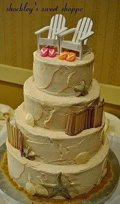 beach wedding cake idea...