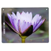 Lotus Flower Dry Erase Board With Keychain Holder