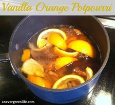 Love this DIY Vanilla Orange Potpourri! Makes my house smell delicious in minutes!