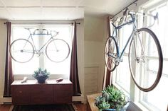 DIY Wall Bike Rack Made from Old Handlebars | 20 DIY Ways To Pimp Your Bike