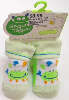 Gagou Tagou Baby Socks for each bag, donated by Shelly Bridger of CST Consultants Inc.
