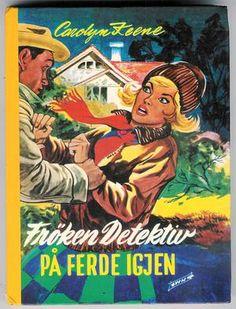 """""""Frøken detektiv på ferde igjen"""" av Carolyn Keene Comic Books, Comics, Reading, Cover, Word Reading, Comic Book, Blanket, Comic, Comic Strips"""